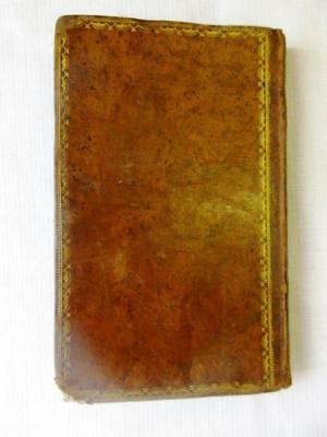 Antique Judaica Hebrew Bible Gold Tooled Binding 1809 Colored Endpapers