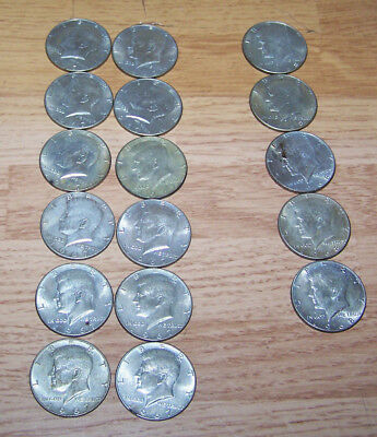 1967-1968, 40% Silver Kennedy Half Dollars, Choice of lot or all, Sold each