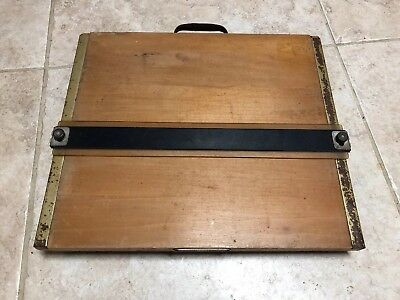 "Mayline Vintage Wood Drafting Board Portable Table Top Straight Edge 12-3/4""x12"""