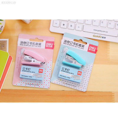 F380 1 Pcs Mini School Supplies Stapler Paper Set Binding Book Stapless Statione