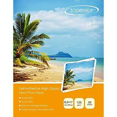 """Self-Adhesive High Glossy Inkjet Photo Sticker Paper 8.5""""x11"""" (206 279 Mm) For"""