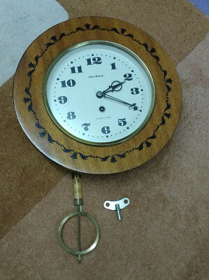 Jantar USSR Pendulum Clock complete with Pendulum and Key Vintage 1970
