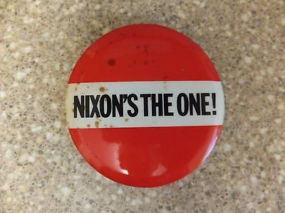 """Vintage """"nixon's The One!""""  Pin-On Campaign Button"""