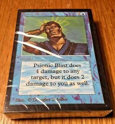 Magic MtG Collectors edition SEALED pack CE Alpha Beta 55 cards Psionic Blast