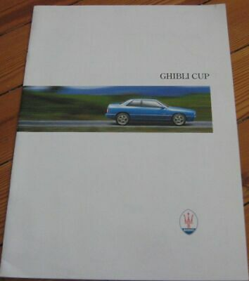 Brochure Prospekt Dépliant Catalogue 1996 MASERATI GHIBLI CUP French RARE