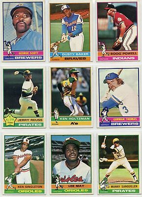 1976 76 Topps LOT YOU PICK SINGLES 10 cents -- COMPLETE YOUR SET!! Updated 1/16