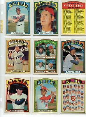 1972 72 Topps LOT YOU PICK SINGLES 20 cents -- COMPLETE YOUR SET!! Updated 7/18