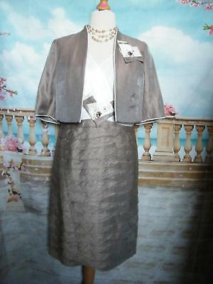 Designer Dress and Bolero Jacket size 14 Wedding Outfit Suit Mother of the Bride