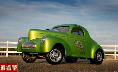 1940 Willys Coupe 1941 WILLYS SHOW PRO STREET GASSER PERFECT NEEDS NOTHING NEW BUILD 1 OF A KIND