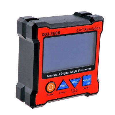 High Precise:DXL360S Digital Protractor Angle Gauge,Dual Axis Level Box~
