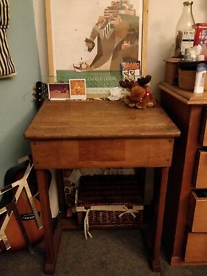 Vintage wooden adults writing desk