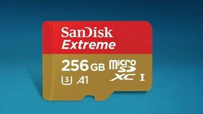 SanDisk Extreme 256gb micro SDXC Memory Card Plus SD Adapter Android