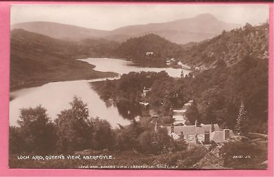 Loch Ard, Queens View, Aberfoyle, Stirlingshire, Scotland postcard. Real Photo.