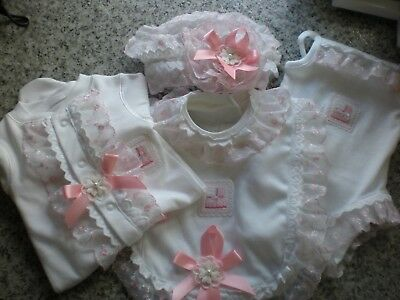 Romany Blinged Baby Babygro, Bib, Cami body & hairband set - various sizes