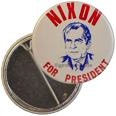 For President Richard M. Nixon Political Campaign Drawing Pin Button Pinback