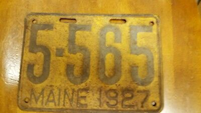 1927 Maine License Plate Tag