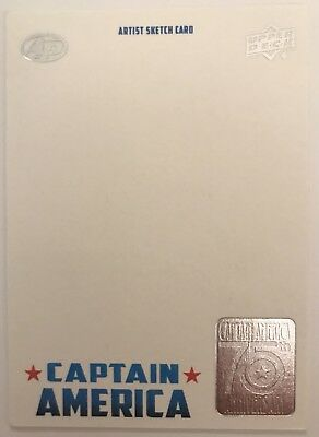 2016 Upper Deck Marvel Captain America 75th Anniversary Blank AP Sketch Card
