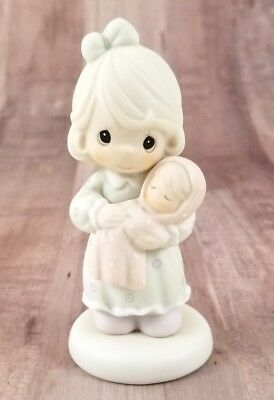 """Precious Moments Figurine 1996 """"All Things Grow With Love"""" Mother Child 139505"""
