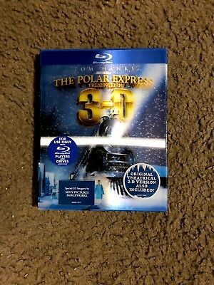 The Polar Express (Blu-ray Disc, 2010, 3D) with Lenticular Cover Brand New!