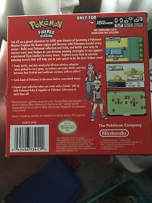 Pokemon: FireRed Version Nintendo Game Boy Advance 2004 Box And Inserts Only