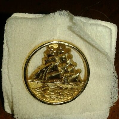 Vintage Pan Am Clipper Sailing Ship lapel pin