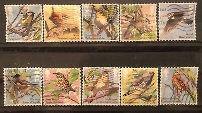 2017 Gb Songbirds Used Stamp Set