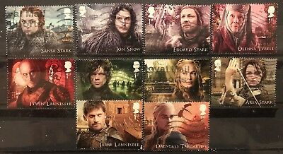 2018 Gb Game Of Thrones Used Stamp Set