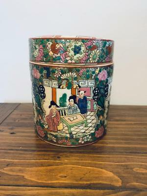 Antique Chinese Porcelain Famille Rose Large Jar