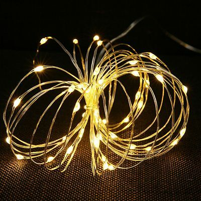 6 Pack 2M 20LEDs Copper Wire LED Fairy String Warm Lights Waterproof Party Decor