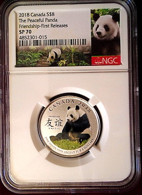 2018 S$8 Canada Silver Ngc Sp70 Peaceful Panda Friendship - First Releases Rare