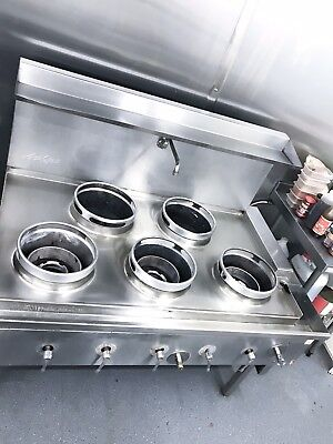 ACK S22 CHINESE WOK COOKER HORIZONTAL GAS CONNECTION FRONT /& BACK BURNERS