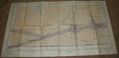 "Vintage 1953 Miles City Montana Sectional Aeronautical Chart Map 23.5"" X 41 3/4"""