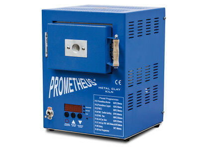 Prometheus Pro-1-PRG Blue Jeweller's  Electric Kiln with Metal Clay Presets