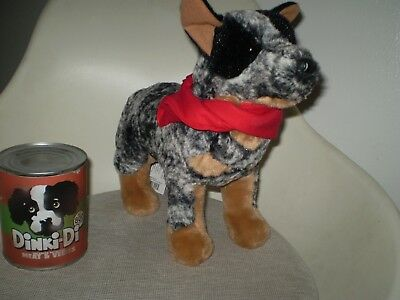 Mad Max Road Warrior Plush Douglas Cattle Dog Australian + replica Dinki-Di can