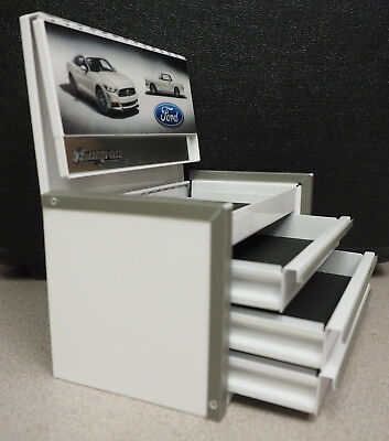 Snap On FORD MUSTANG - White Mini Micro Top Chest Tool Box Brand New Rare
