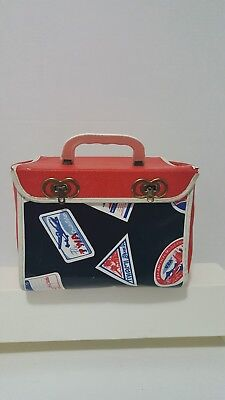 Airlines Bag Luggage Carry On Case Vintage TWA, PAN AM, UNITED, Rare