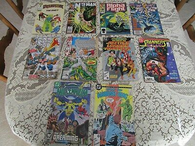 Vintage Comic Books, Marvel, Dc, Epic, Lot Of 10 Different