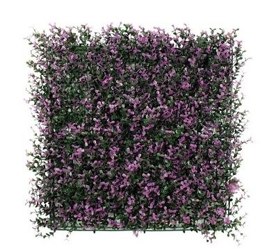 Artificial Boxwood Hedge Mat, Privacy Fence Screen 20x20 12 panels Purple/Green