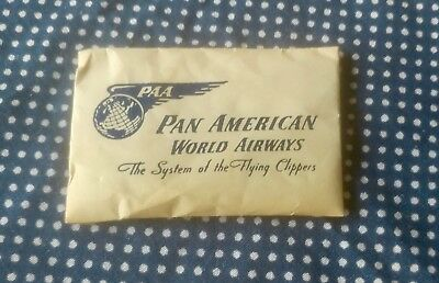 vtg 40s PAN AMERICAN world airways SYSTEM of FLYING CLIPPERS domino sugar PACKET
