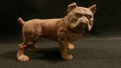 Antique Early 1900s Old English Bulldog Cast Iron Bank Hubley? Doorstop
