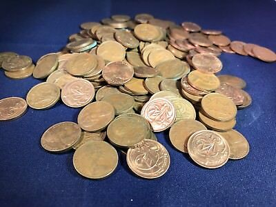 Australian 2 Cent Pieces 225 Grams.From Hoard. Bulk. Not Checked For 1968 Or SD.