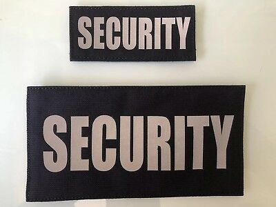 Reflective Patches, SECURITY, RANGER, etc. 2 patches, Black Or Yellow.