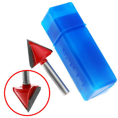 """Engraving V Groove Cutting Router Bit Tool Kit 1/4"""" Shank 60° Degree 6mmx22mm"""