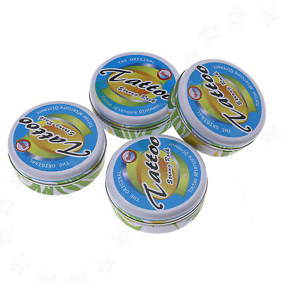 4Pcs Tattoo Aftercare Kit Cleansing Soap Salve Tins Healing Ointment Protection