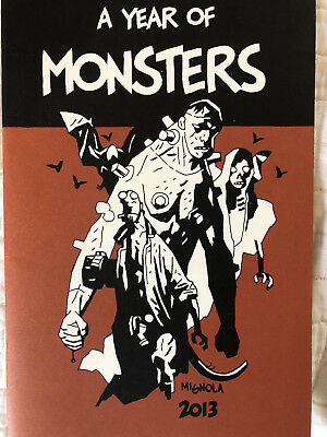 SIGNED MIKE MIGNOLA A Year of Monsters Art Sketchbook Near Mint