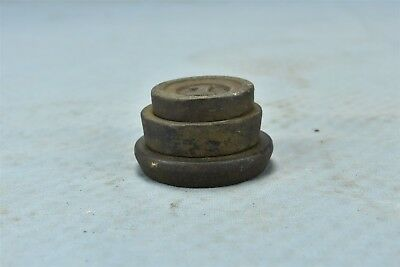 Antique SET of 3 STACKABLE CAST IRON NEST SCALE WEIGHTS MERCANTILE TRADES #06486