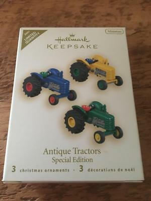 Hallmark Keepsake Ornament 2007 Antique Tractors LImited Quantity Miniature 3