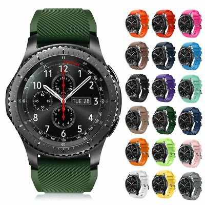 22mm Silicone Bracelet Strap Watch Band For Samsung Gear S3 Frontier / Classic