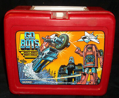 VINTAGE 1984 Tonka Go BOTS PLASTIC Lunchbox LUNCH BOX ONLY No Thermos 80's Toys
