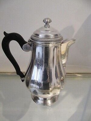 Gorgeous french sterling 950 silver coffeepot Gadroons Christofle 633g 22,3oz